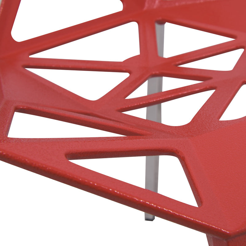 Daphne Red Indoor/Outdoor Dining Chair - living-essentials