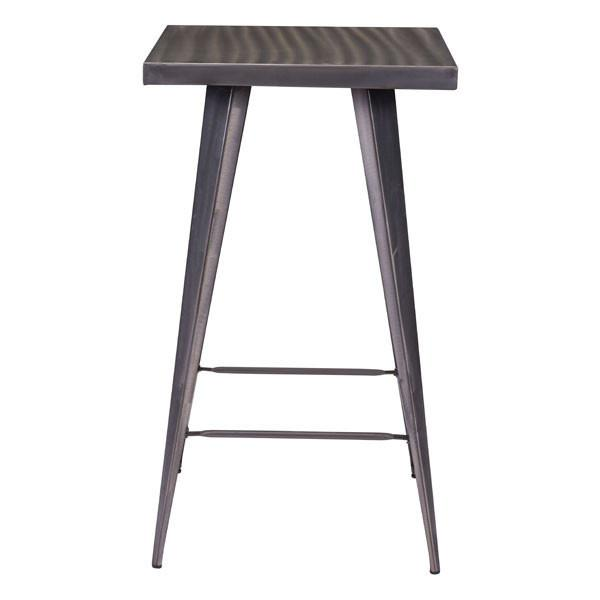 Robin Rustic Gunmetal Bar Table Tables Free Shipping