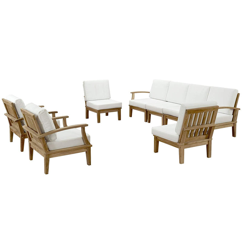 Melbourne 8 Piece Outdoor Patio Teak Set - living-essentials