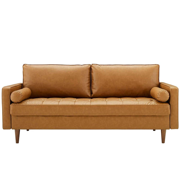 Valiant Upholstered Faux Leather Sofa - living-essentials