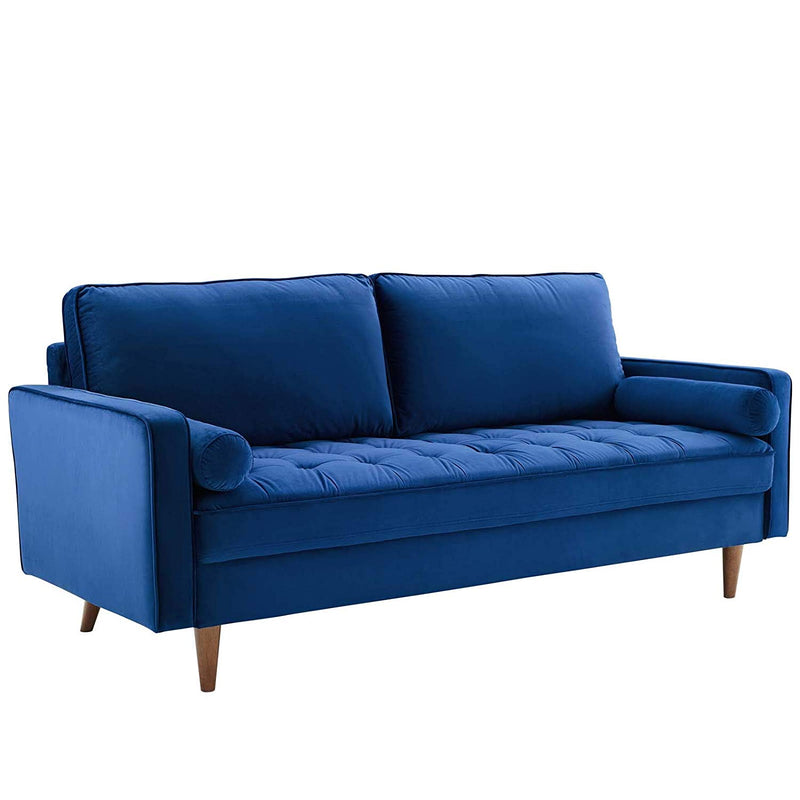 Performance Velvet Sofa in Green - living-essentials