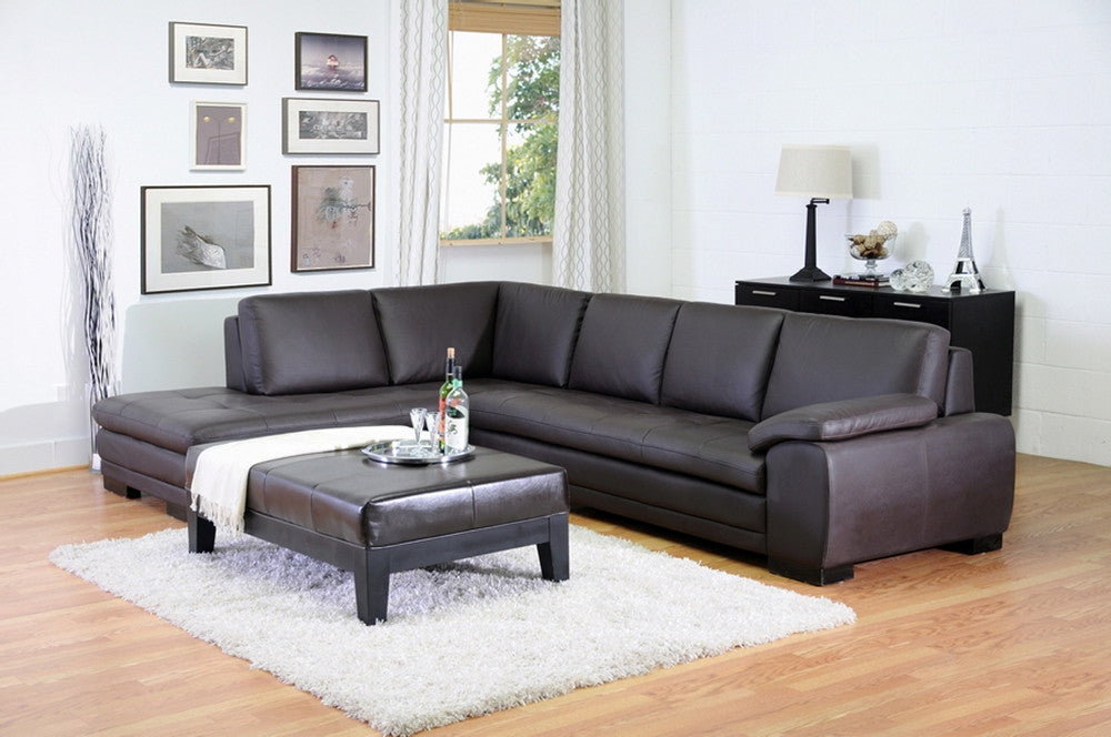... Davin Dark Brown Reverse Sectional Sofa Free Shipping ...