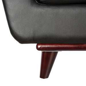 Luca Black Leather Sofa