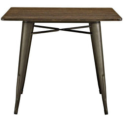 "Alma 36"" Square Wood Dining Table - living-essentials"