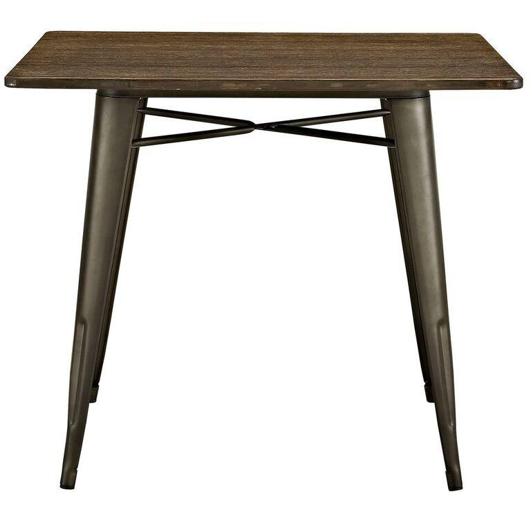 "Alma 36"" Square Wood Dining Table"