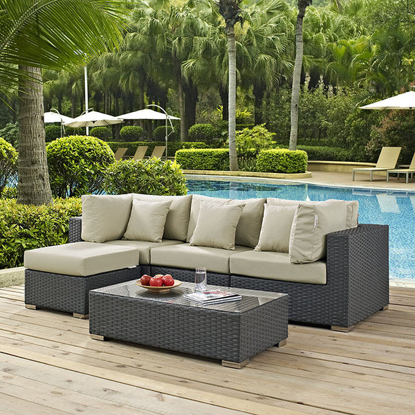 Mont Royal 5 Piece Outdoor Patio Sunbrella Set - living-essentials