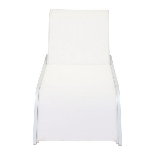 Plage White Outdoor Chaise Lounge - living-essentials