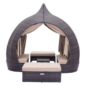 Balearic Brown & Beige Outdoor Daybed Daybeds Free Shipping