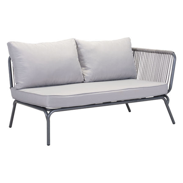 Purity Outdoor RAF Gray Double Loveseat - living-essentials