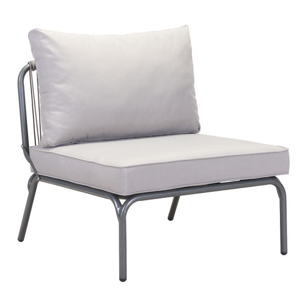 Purity Gray Armless Single Chair - living-essentials
