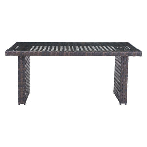 Bruna Brown Outdoor Dining Table Free Shipping