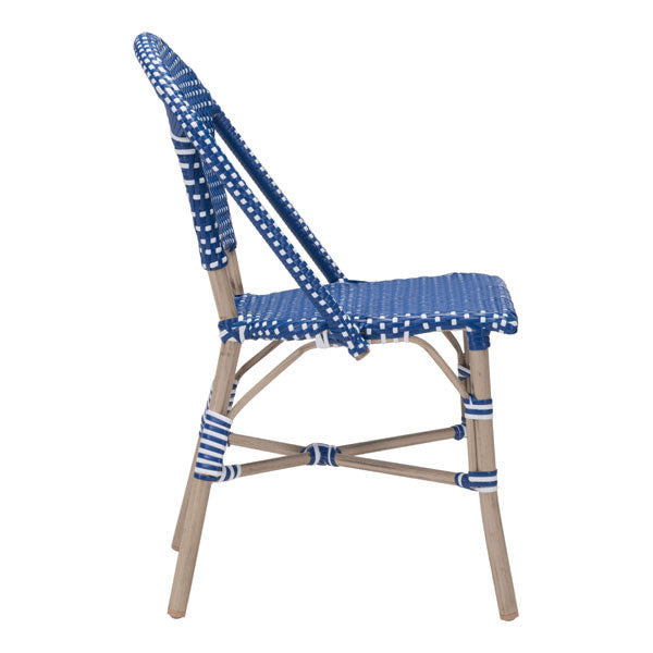 Parley Navy Blue & White Outdoor Dining Chair - living-essentials