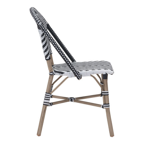 Parley Black & White Outdoor Dining Chair - living-essentials