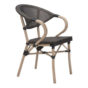 Marceau Outdoor Dark Brown Dining Chair Chairs Free Shipping