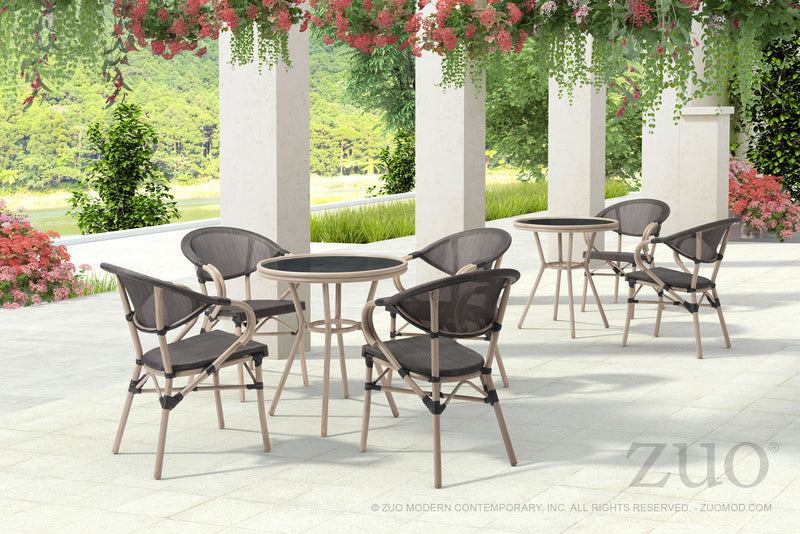 Marceau Outdoor Dark Brown Dining Chair - living-essentials