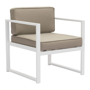 Coco Beach Taupe Outdoor Armchair Chair Free Shipping