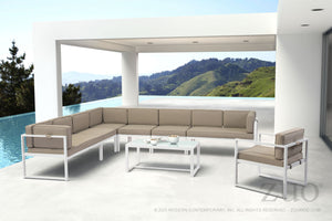 Coco Beach White Outdoor Coffee Table Free Shipping