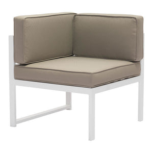 Coco Beach Taupe Outdoor Corner Chair Free Shipping