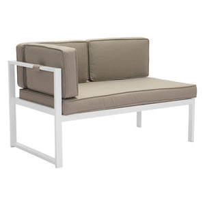 Coco Beach Taupe Outdoor Lhf Chaise Chair Free Shipping