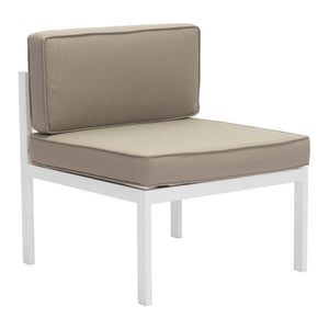 Coco Beach Taupe Outdoor Middle Chair Free Shipping
