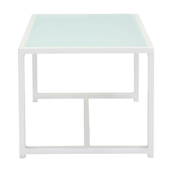 Coco Beach White Outdoor Coffee Table - living-essentials