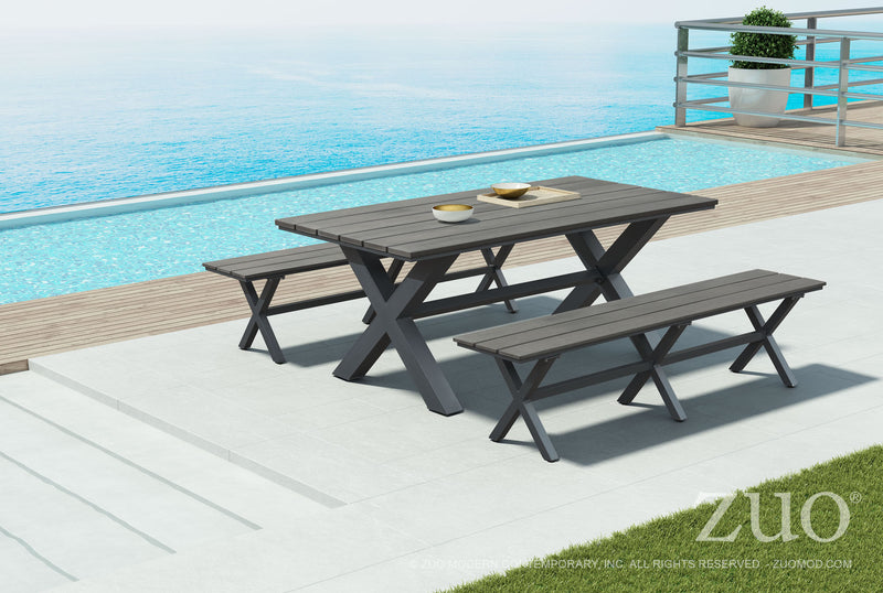 Sunny Brown Outdoor Bench - living-essentials