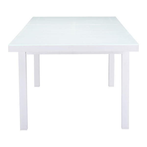 Marcelle White Outdoor Dining Table - living-essentials