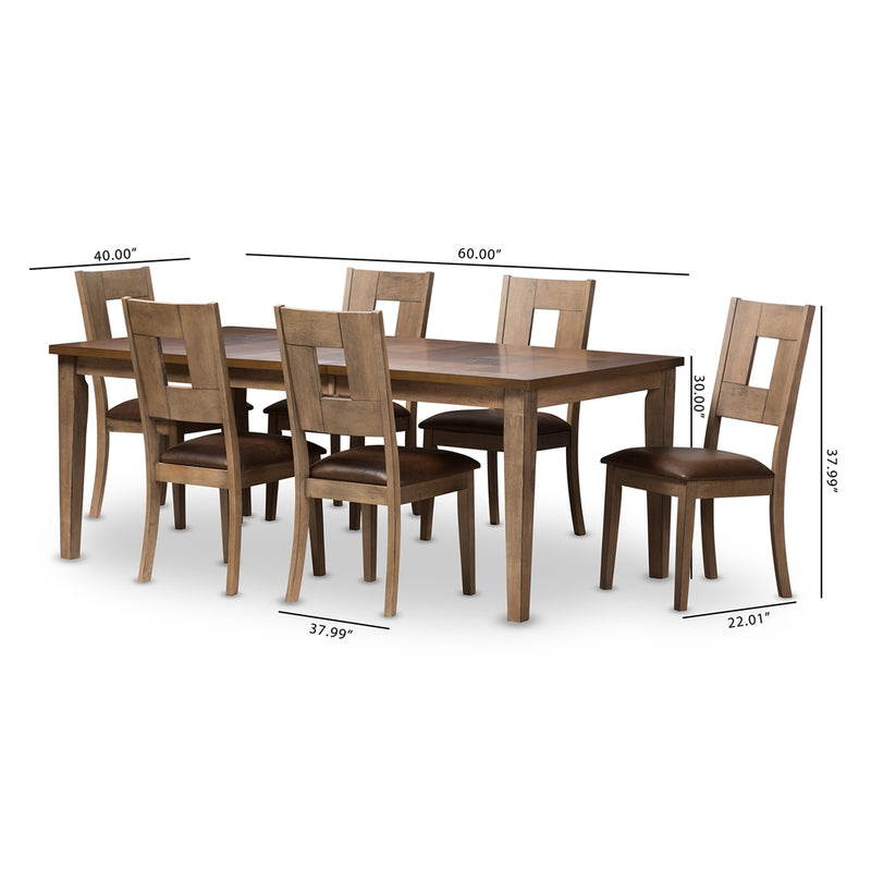 Giorgio Weathered Grey Dining Set with Extendable Table - living-essentials