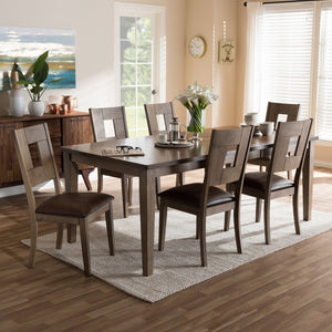 Giorgio Weathered Grey Dining Set with Extendable Table