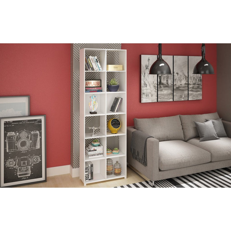12- Shelf Natal 1.0 Bookcase in  White - living-essentials