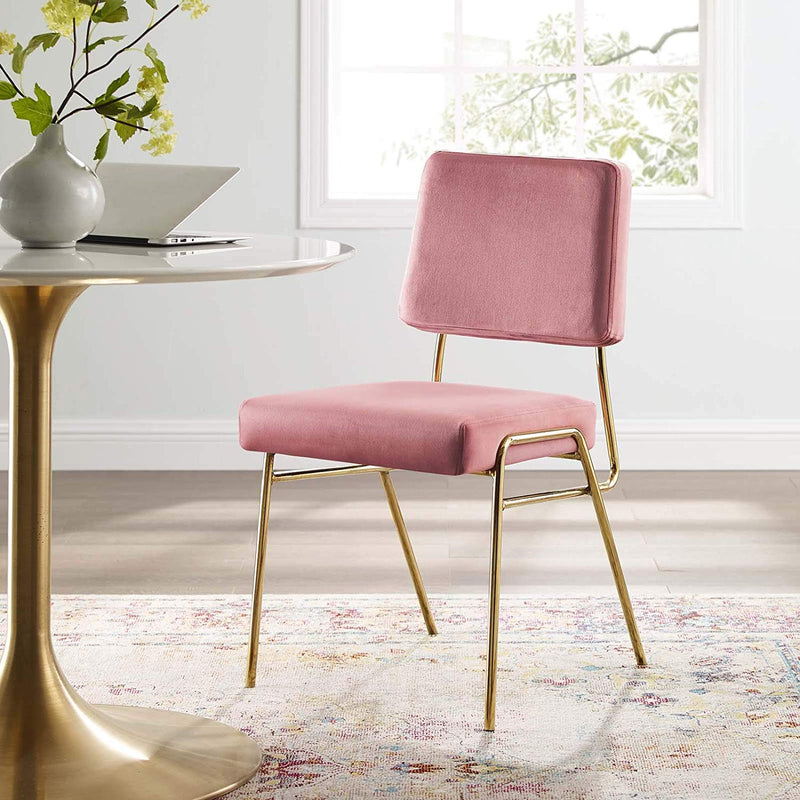 Creole Performance Velvet Dining Side Chair