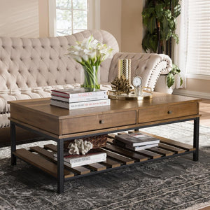 Navin Industrial Oak Brown Coffee Table