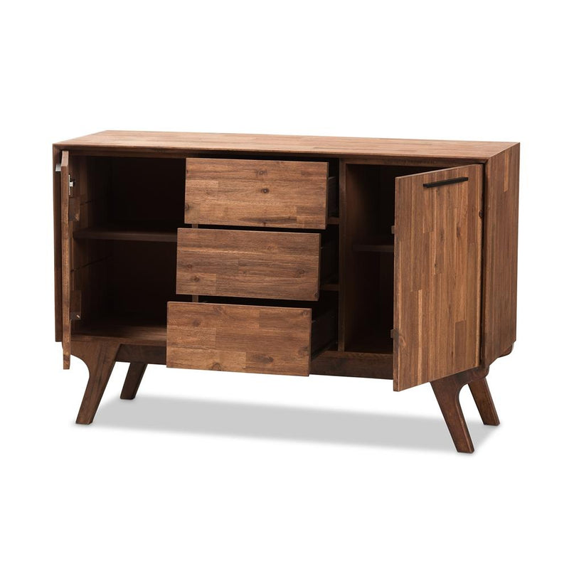 Sima Brown 3-Drawer Sideboard - living-essentials