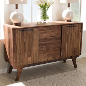 Sima Brown 3-Drawer Sideboard