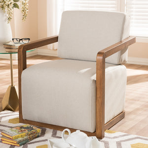 Salman Walnut Wood Armchair