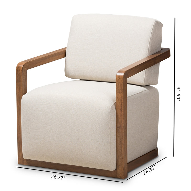 Salman Walnut Wood Armchair - living-essentials