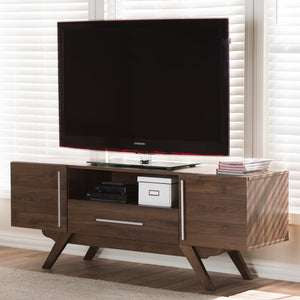 Asher Walnut Brown TV Stand