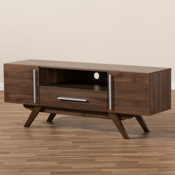 Asher Walnut Brown TV Stand - living-essentials