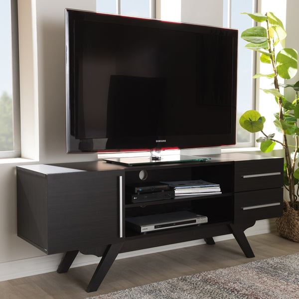 Asher Dark Brown TV Stand - living-essentials