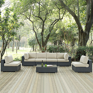 Mont Royal 7 Piece Outdoor Patio Sunbrella Sectional Set Sofas Free Shipping