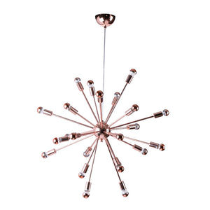 Sputnik Style Chandelier 23H X 23W 23D / Copper Ceiling Lamps Free Shipping