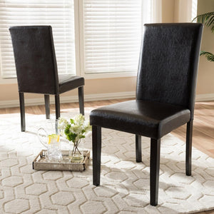 Mikah Faux Leather Dining Chair Set of 2