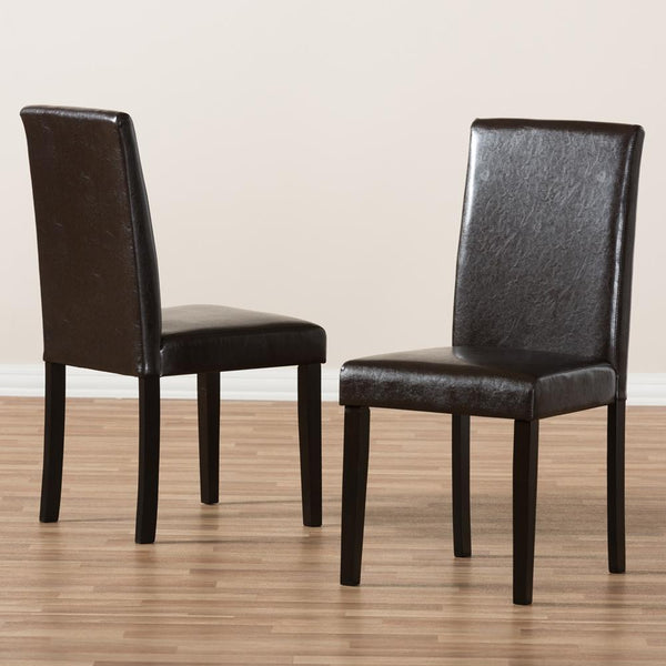 Mikah Faux Leather Dining Chair Set of 2 - living-essentials