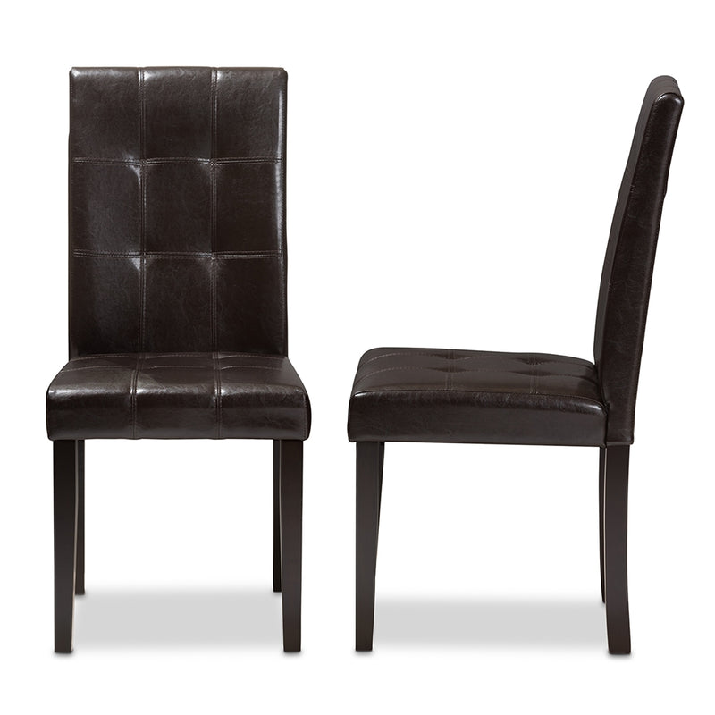 Avril Faux Leather Dining Chair Set of 2 - living-essentials
