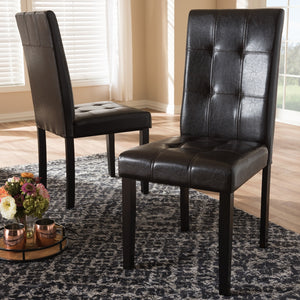 Avril Faux Leather Dining Chair Set of 2