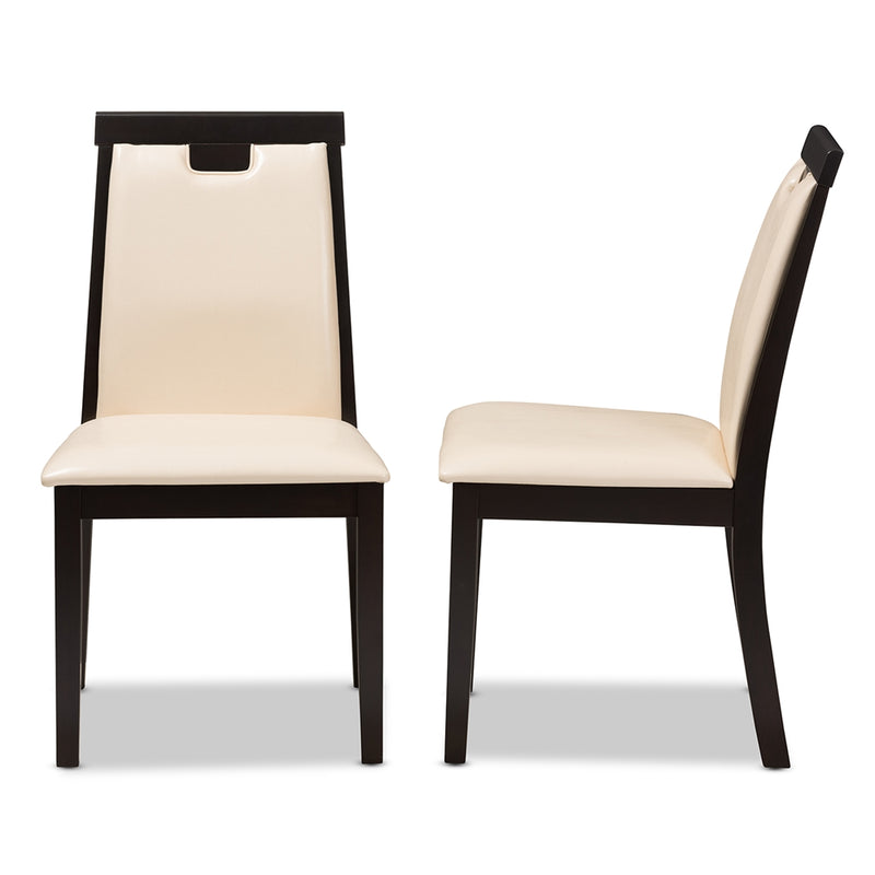 Evette Faux Leather Dining Chair Set of 2 - living-essentials