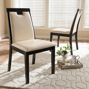 Evette Faux Leather Dining Chair Set of 2