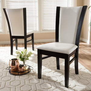 Adrina White Faux Leather Dining Chair Set of 2