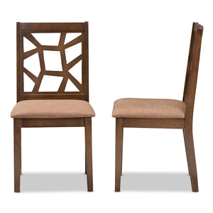 Able Walnut Dining Chair Set of 2