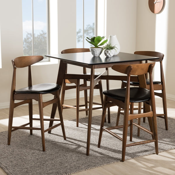 Floyd Walnut 5-Piece Pub Set - living-essentials